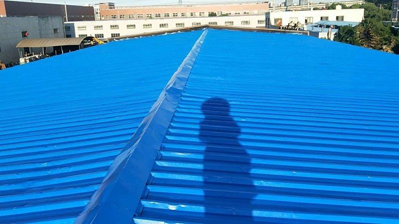 无锡中恵橡胶有限公司厂房彩钢瓦翻新案例