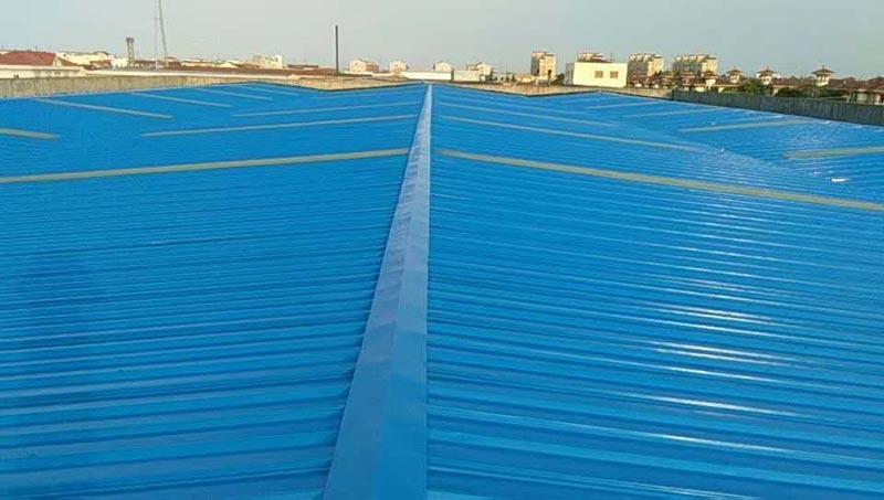 宁波远诚设备制造有限公司厂房彩钢瓦翻新案例