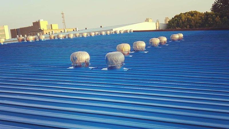 扬州锦辉化工屋面彩钢瓦翻新案例