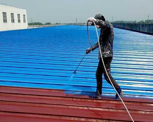 工厂彩钢瓦喷涂翻新施工到底能不能起到降温效果